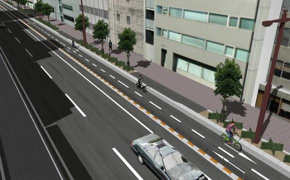 自転車専用道路 | 創建設計VR-CG