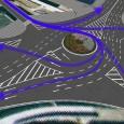 ロータリー等交通量の多い交差点での動線検証が可能です。